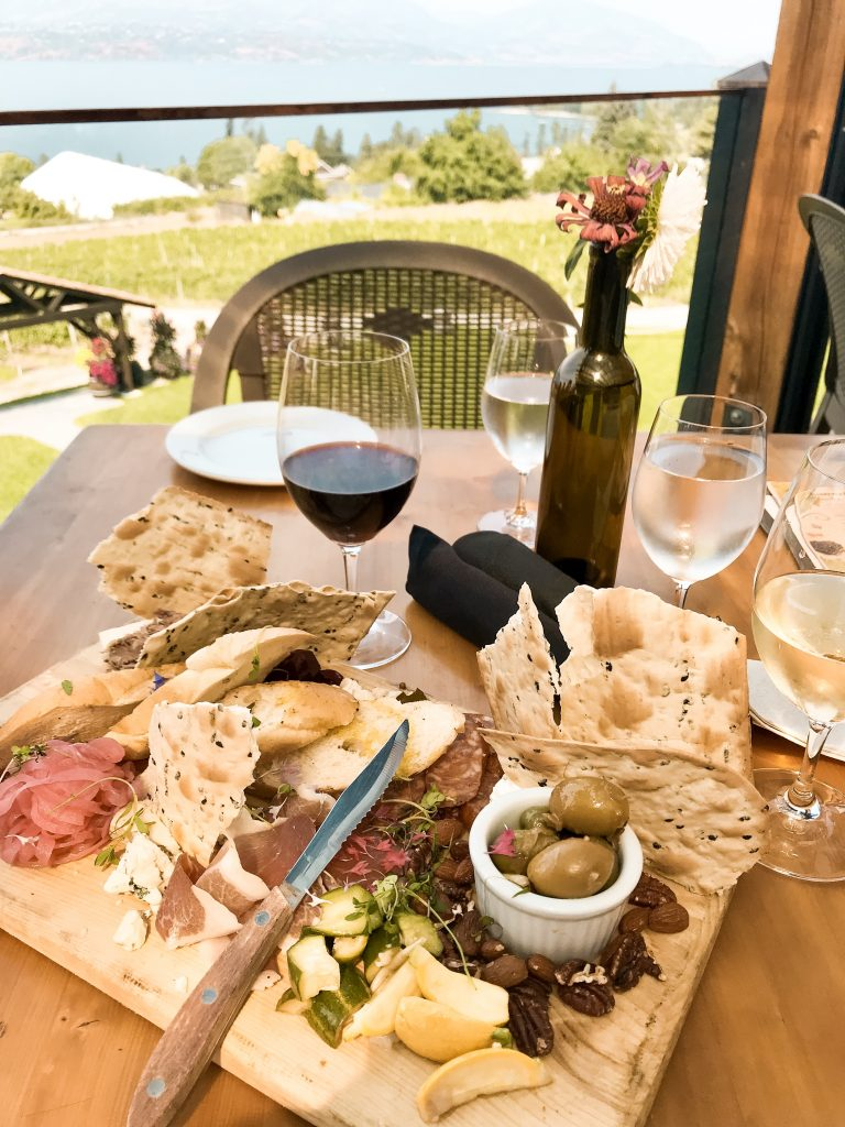 Charcuterie board at Sunset Organic Bistro